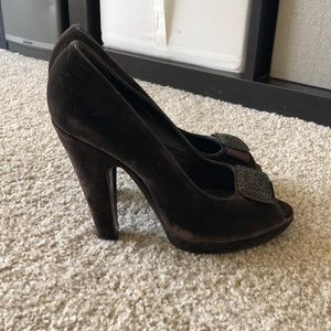 ELIE TAHARI Brown pumps LIKE NEW